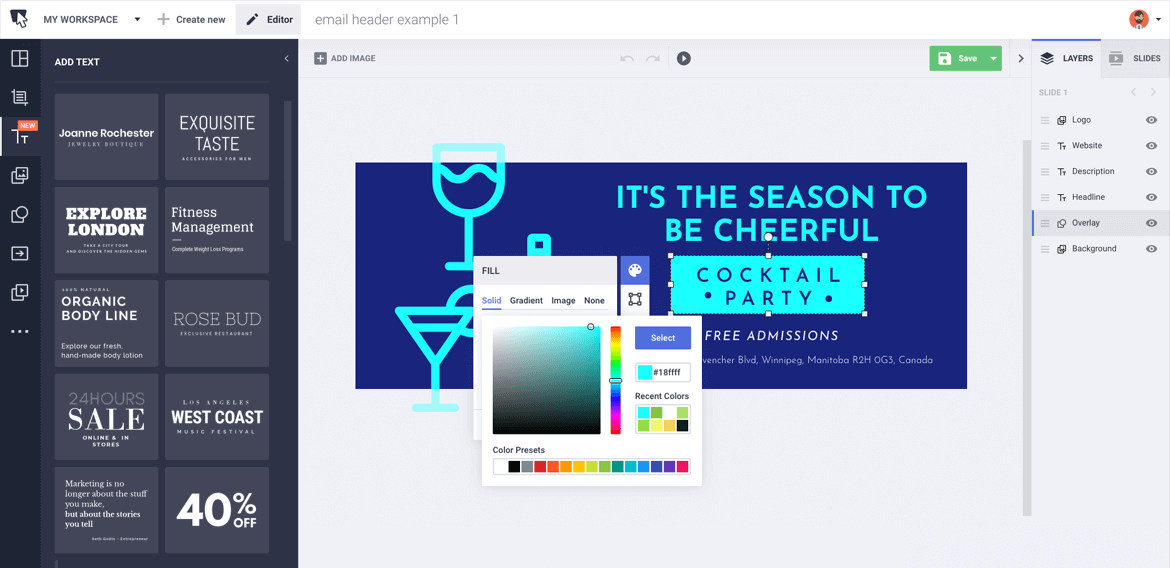 Free Email Design Tool For Your Email Banner Or Header