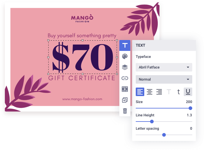 Personalize your certificate easily