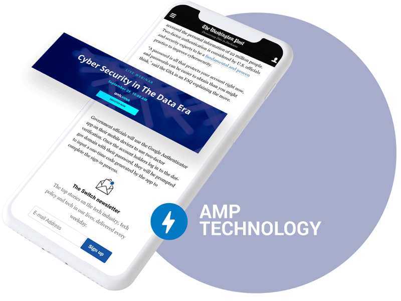 amp banner mobile hero