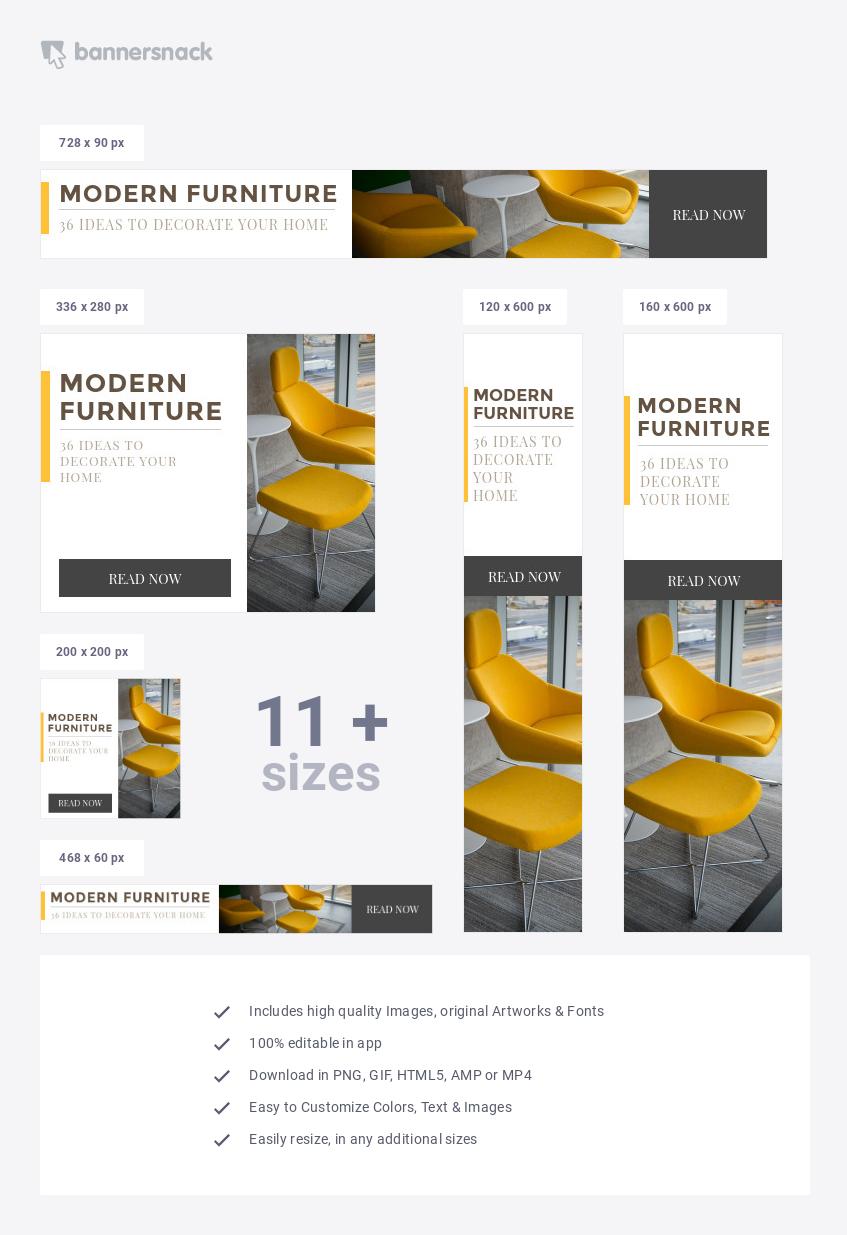 Interior Design Blog Banner Ad Template