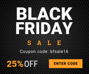 black friday promo code sale banner template