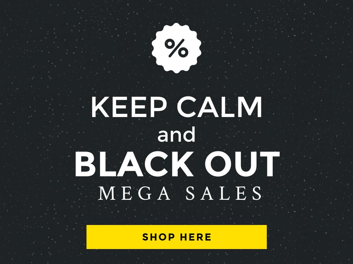 Keep Calm Template   Black Friday Keep Calm Deal Banner Template