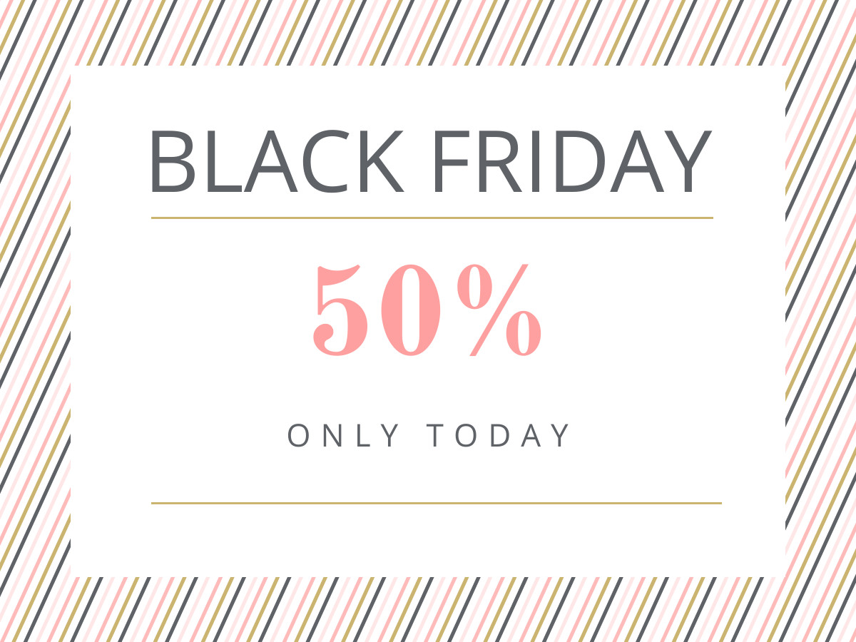 black friday exclusive sale banner template