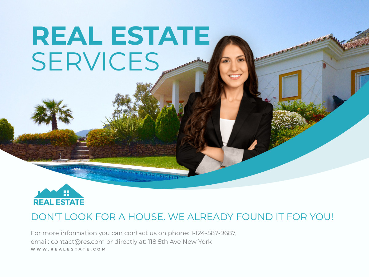 real estate services banner ad template