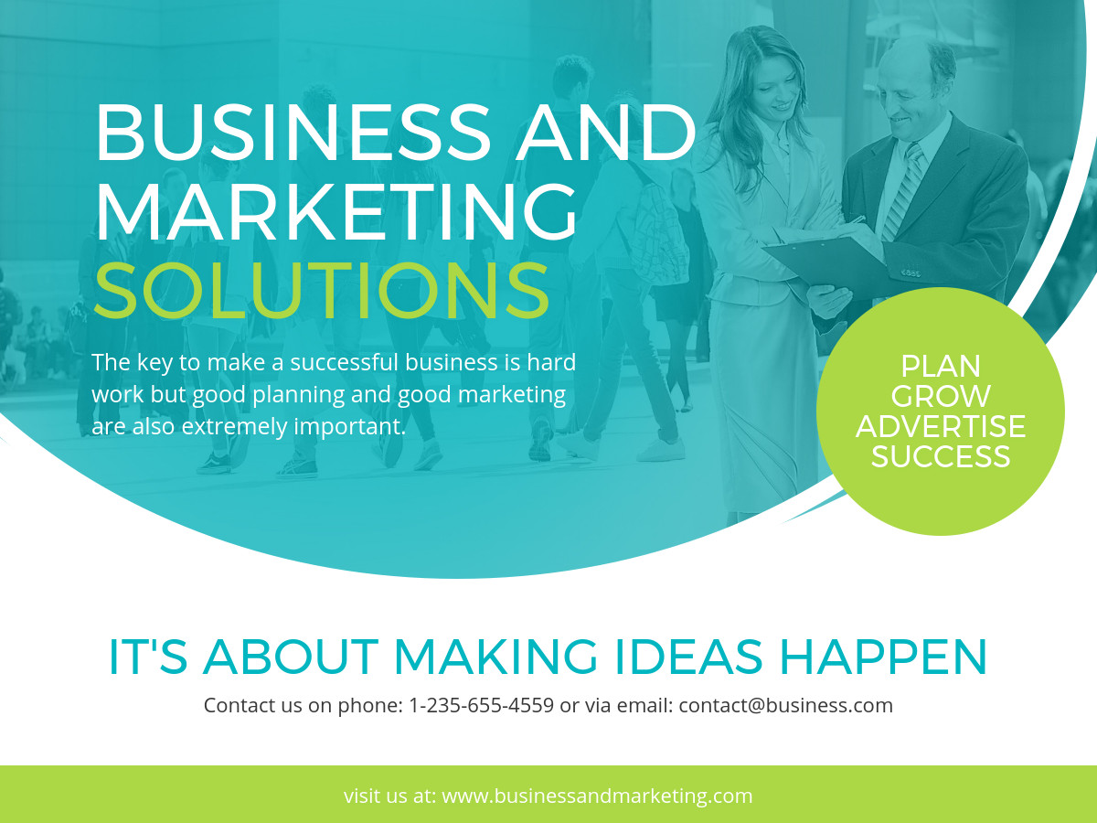 business and marketing banner template