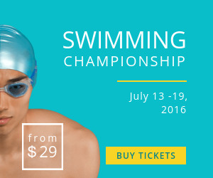 swimming championship sports banner template