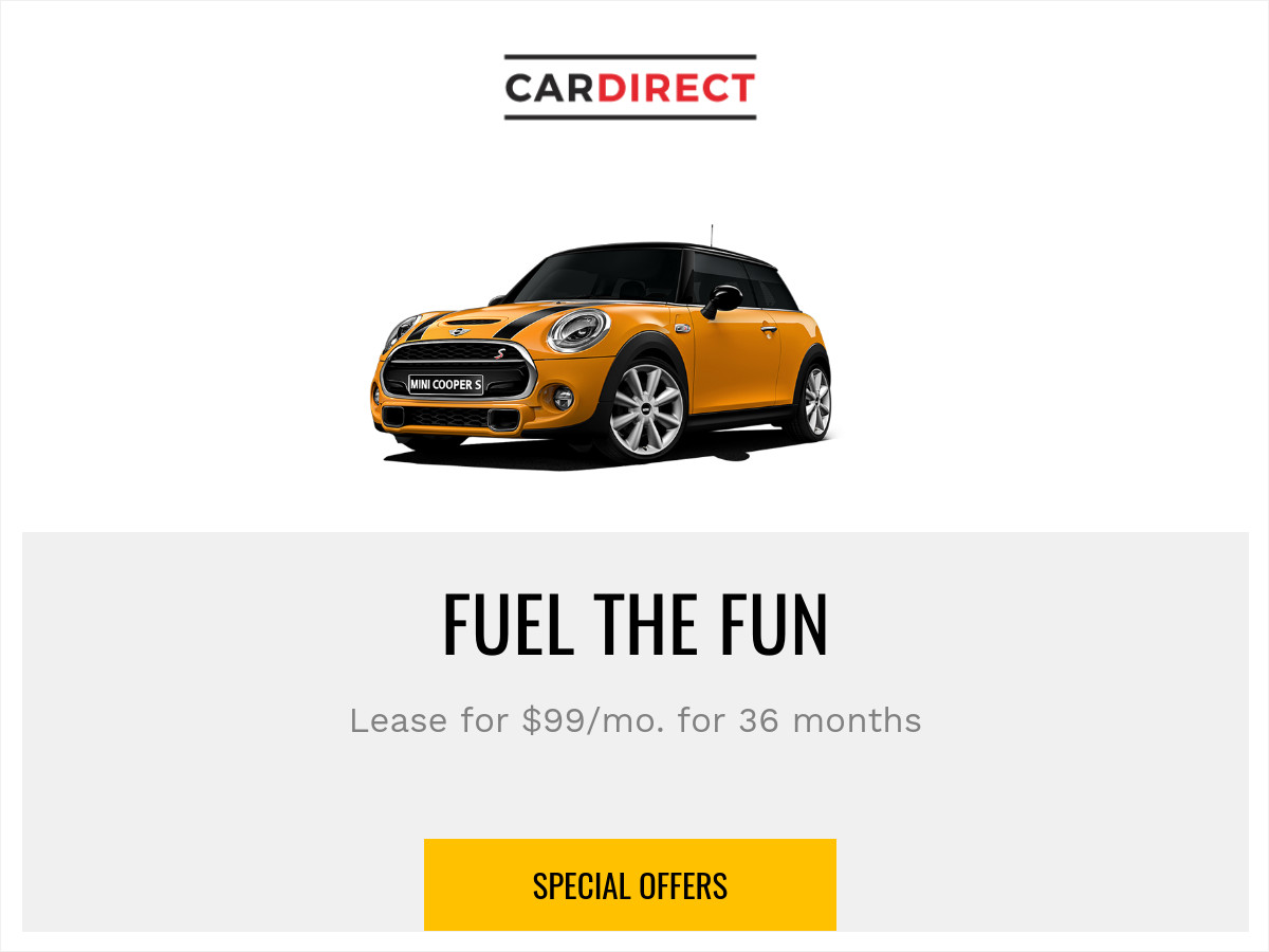 car special offer banner template