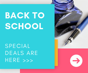 back to school sale education banner template