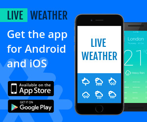 live weather smart phone banner template