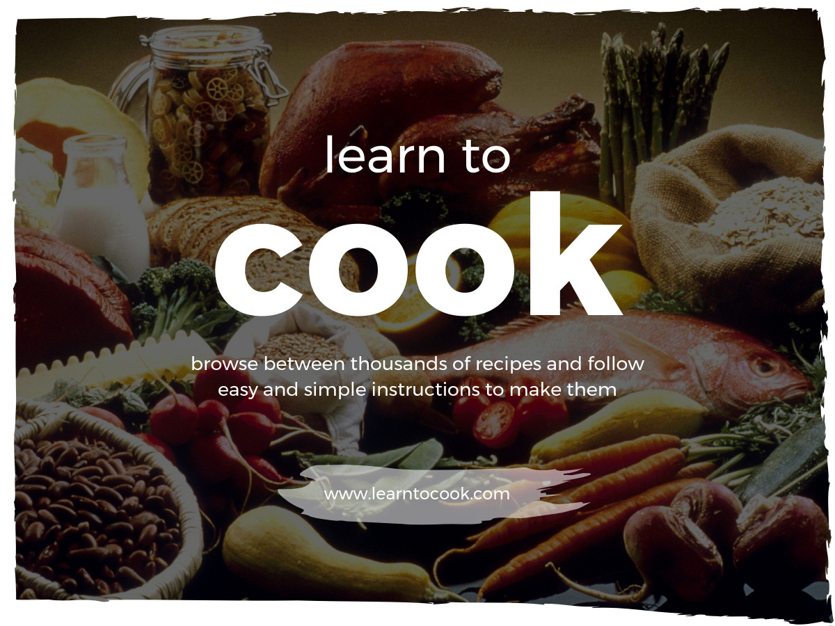 learn to cook education banner template
