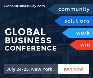 Global business conference banner template wajeb