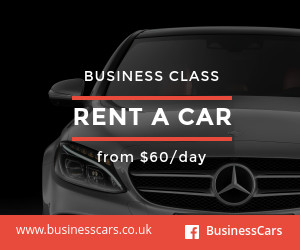 rent a car business banner ad template