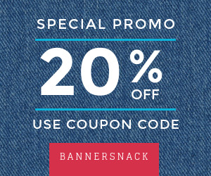 special promo coupon banner template with jeans texture