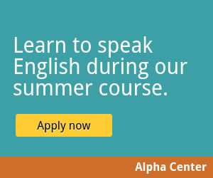 english summer course education banner template