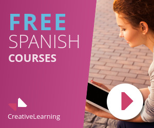 spanish lessons education banner template